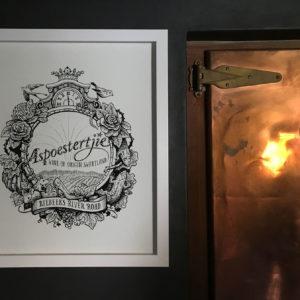 Jack-Russell-Design-Aspoestertjie-Wine-logo-in-cellar