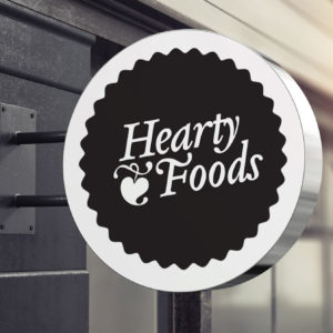 Jack-Russell-Design-Hearty-Foods-logo-signage 1