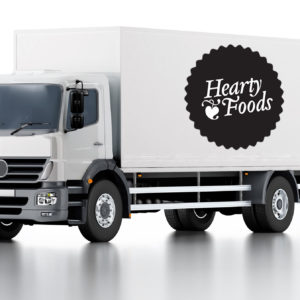 Jack-Russell-Design-Hearty-Foods-logo-truck-livery