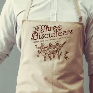Jack-Russell-Design-Three-Biscuiteers-logo-design-on-apron