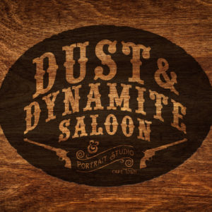Jack-Russell-Design-Dust-&-Dynamite-Saloon-wood-logo-design